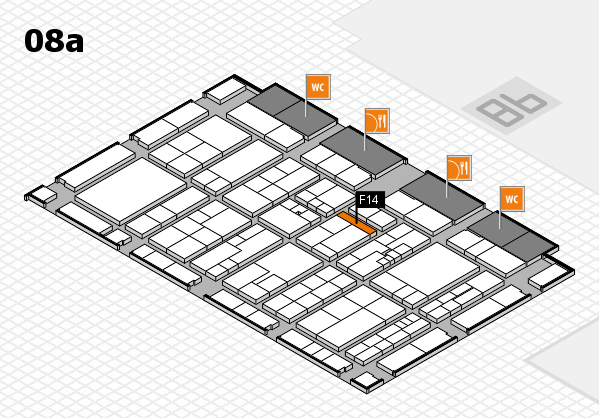 K 2016 hall map (Hall 8a): stand F14