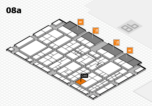 K 2016 hall map (Hall 8a): stand D46