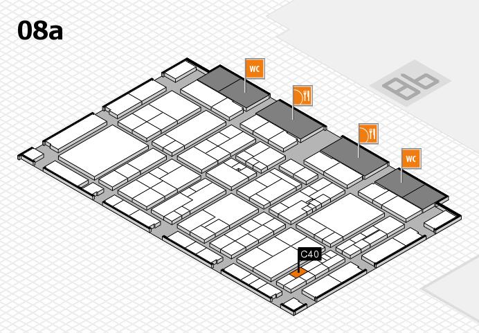 K 2016 hall map (Hall 8a): stand C40