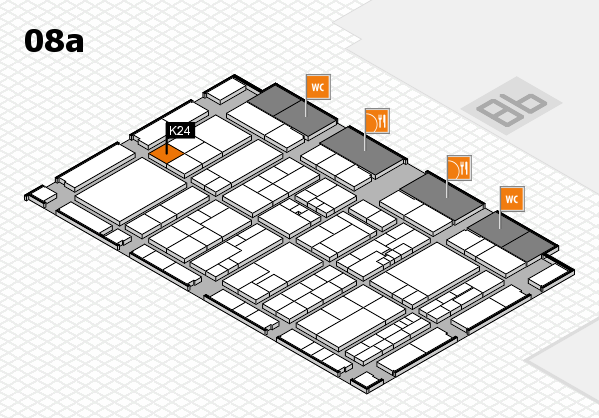 K 2016 hall map (Hall 8a): stand K24