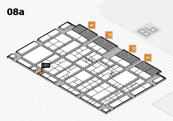K 2016 hall map (Hall 8a): stand H50