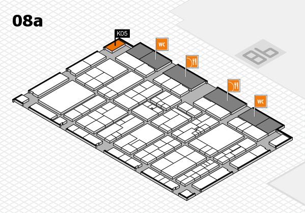 K 2016 hall map (Hall 8a): stand K05