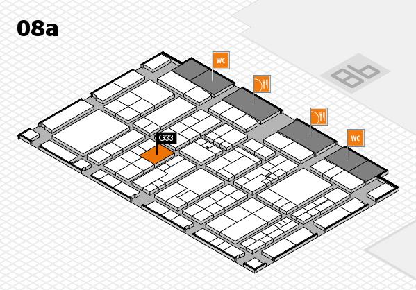 K 2016 hall map (Hall 8a): stand G33