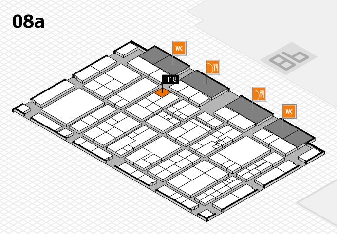 K 2016 hall map (Hall 8a): stand H18