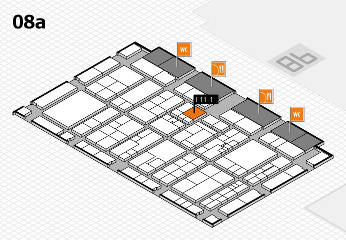 K 2016 hall map (Hall 8a): stand F11-1