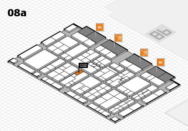 K 2016 hall map (Hall 8a): stand G32
