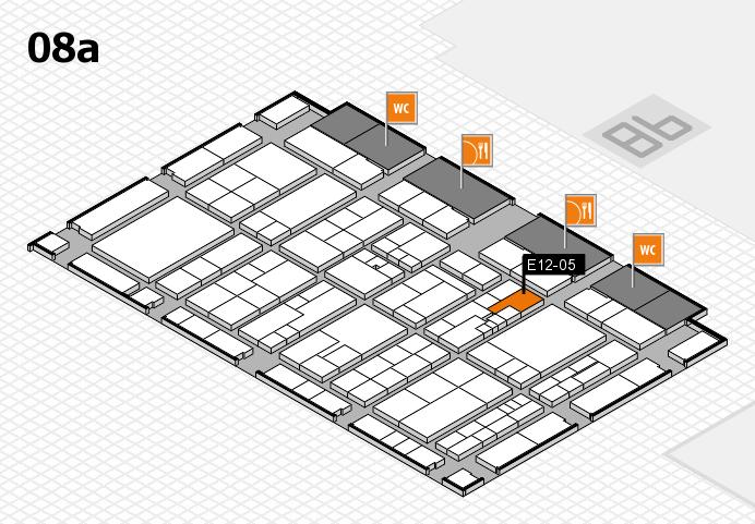 K 2016 hall map (Hall 8a): stand E12-05