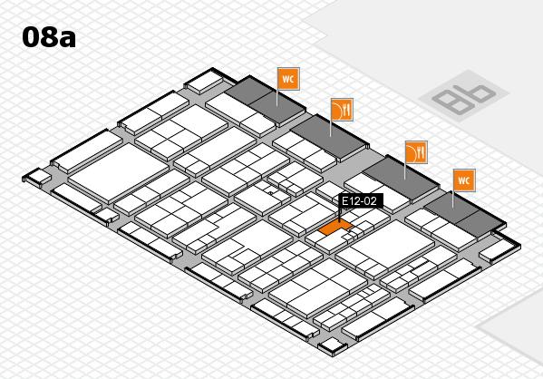 K 2016 hall map (Hall 8a): stand E12-02