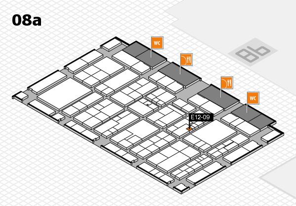 K 2016 hall map (Hall 8a): stand E12-09
