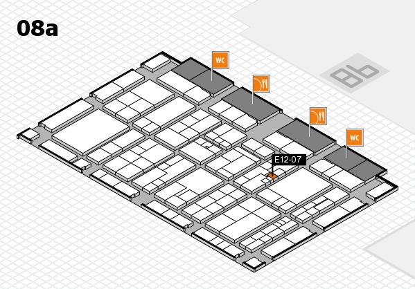 K 2016 hall map (Hall 8a): stand E12-07