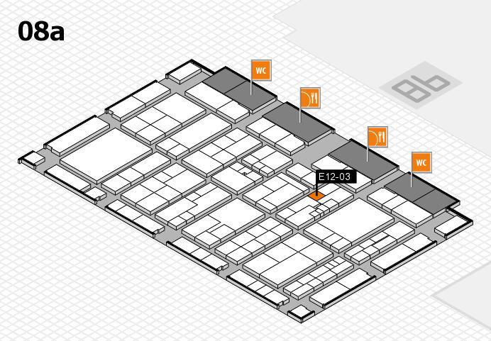K 2016 hall map (Hall 8a): stand E12-03