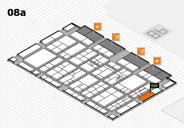 K 2016 hall map (Hall 8a): stand B28