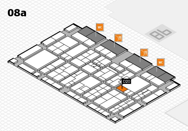 K 2016 hall map (Hall 8a): stand D20