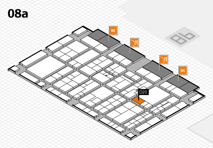 K 2016 hall map (Hall 8a): stand D20