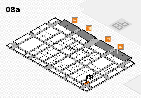 K 2016 hall map (Hall 8a): stand B45