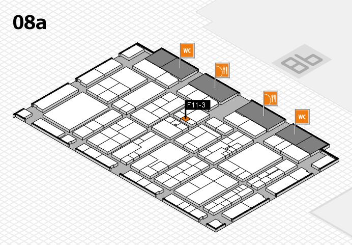 K 2016 hall map (Hall 8a): stand F11-3