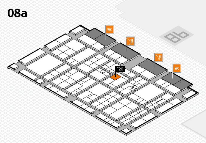 K 2016 hall map (Hall 8a): stand F20