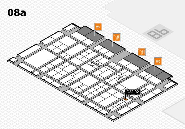 K 2016 hall map (Hall 8a): stand C32-02