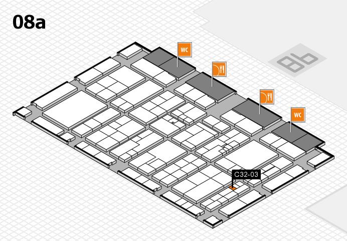K 2016 hall map (Hall 8a): stand C32-03