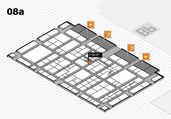 K 2016 hall map (Hall 8a): stand F19-01