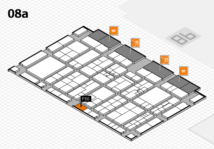 K 2016 hall map (Hall 8a): stand F50