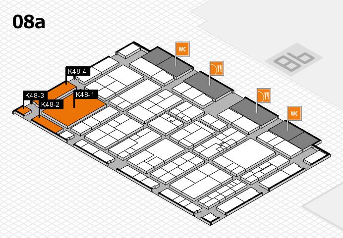 K 2016 hall map (Hall 8a): stand K48-1, stand K48-4