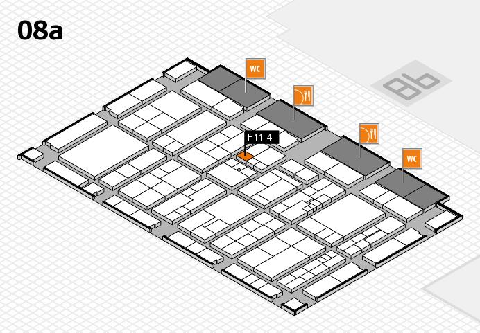 K 2016 hall map (Hall 8a): stand F11-4