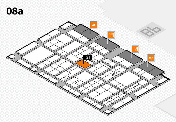 K 2016 hall map (Hall 8a): stand F21