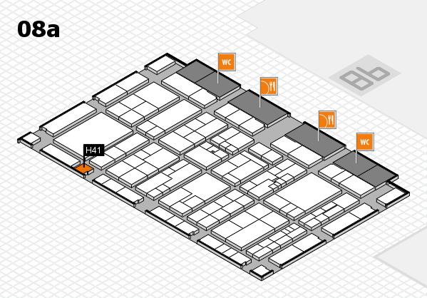 K 2016 hall map (Hall 8a): stand H41