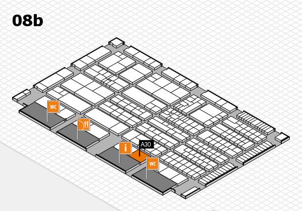 K 2016 hall map (Hall 8b): stand A30