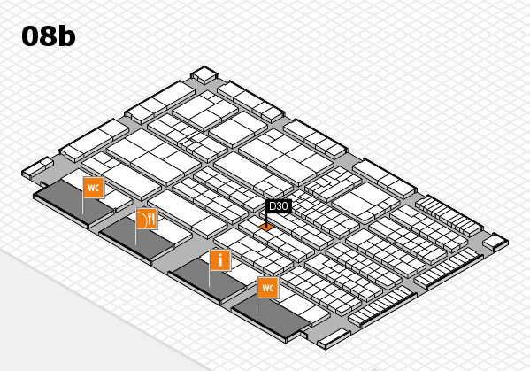 K 2016 hall map (Hall 8b): stand D30