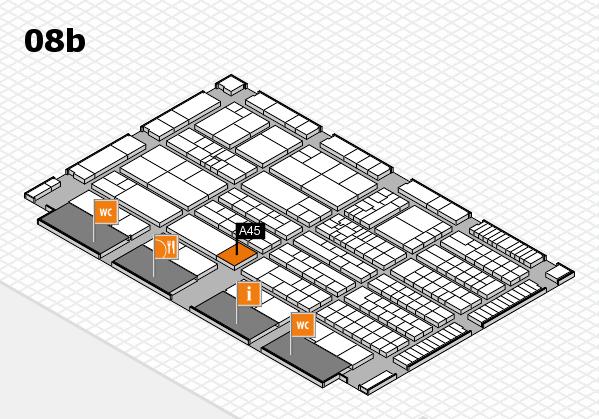 K 2016 Hallenplan (Halle 8b): Stand A45