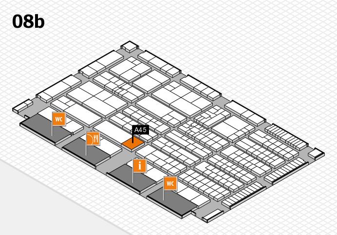 K 2016 hall map (Hall 8b): stand A45