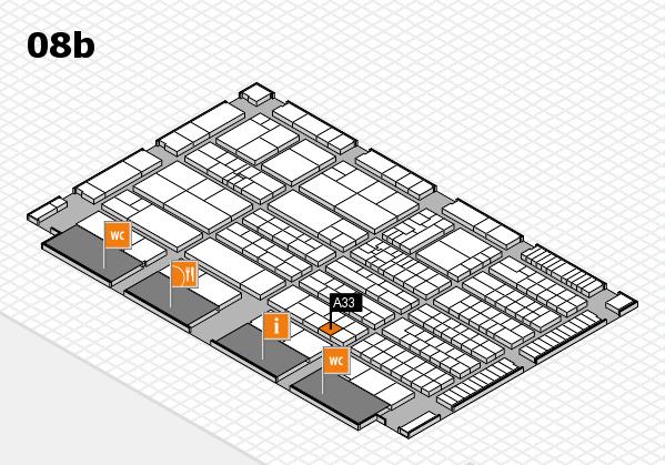 K 2016 hall map (Hall 8b): stand A33