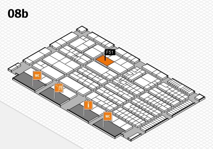 K 2016 hall map (Hall 8b): stand F51