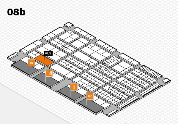 K 2016 hall map (Hall 8b): stand A63