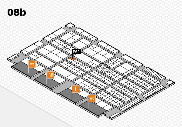 K 2016 hall map (Hall 8b): stand E62