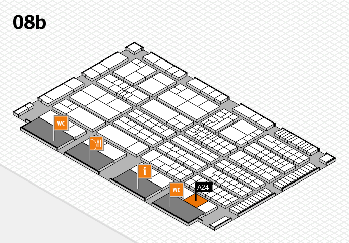 K 2016 Hallenplan (Halle 8b): Stand A24