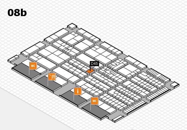 K 2016 hall map (Hall 8b): stand D45