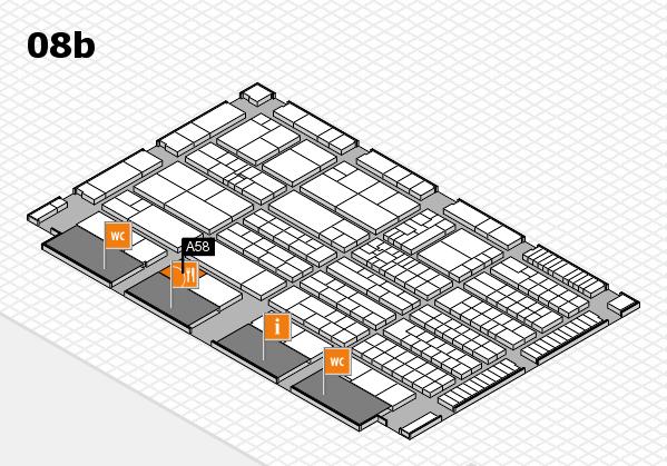 K 2016 hall map (Hall 8b): stand A58
