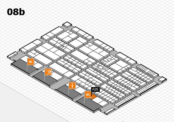 K 2016 hall map (Hall 8b): stand A28
