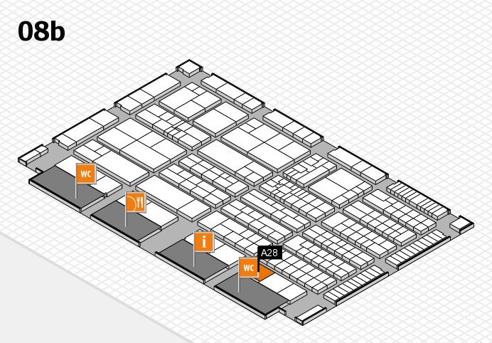K 2016 Hallenplan (Halle 8b): Stand A28