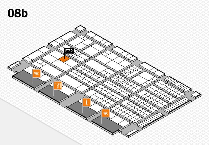 K 2016 hall map (Hall 8b): stand E72