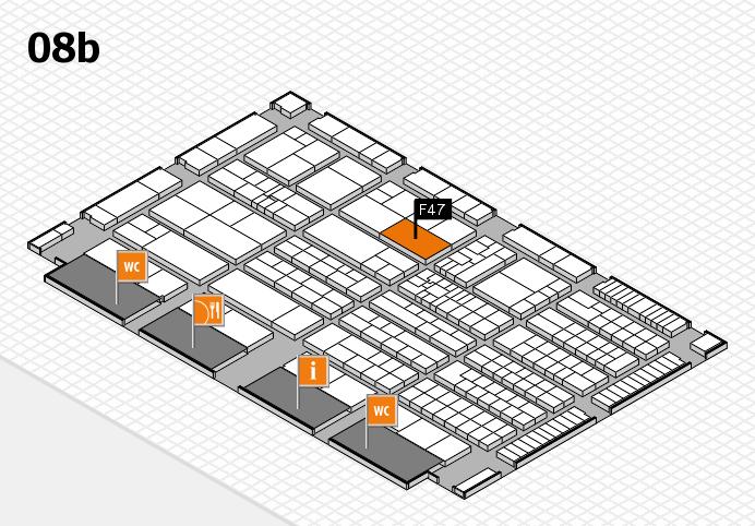 K 2016 hall map (Hall 8b): stand F47