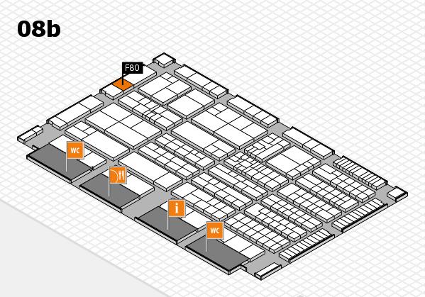 K 2016 Hallenplan (Halle 8b): Stand F80