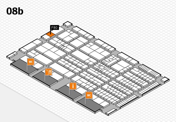 K 2016 hall map (Hall 8b): stand F80