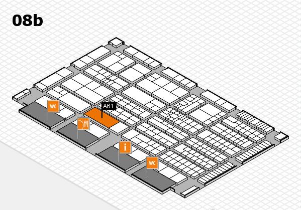 K 2016 Hallenplan (Halle 8b): Stand A61