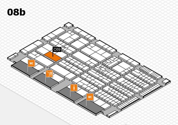 K 2016 hall map (Hall 8b): stand C69