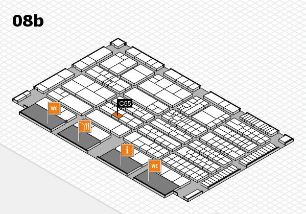 K 2016 Hallenplan (Halle 8b): Stand C55