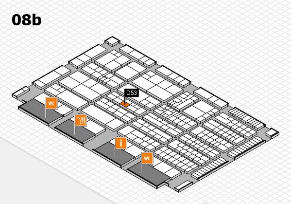 K 2016 hall map (Hall 8b): stand D53